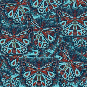 butterfly collage (blue/orange)