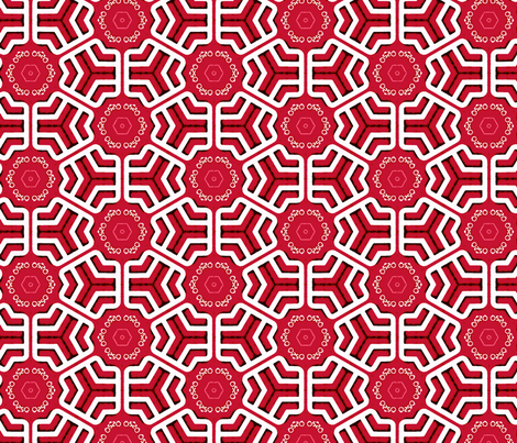 red grid fabric by heikou on Spoonflower - custom fabric