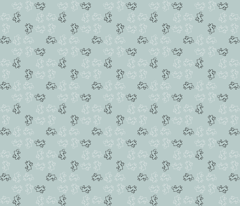 pinwheel bunnies blue fabric by cherryandcinnamon on Spoonflower - custom fabric