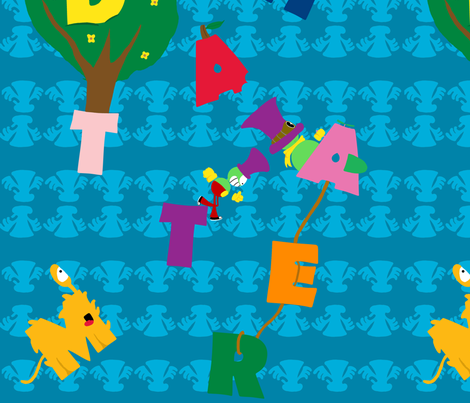 MadHatter Alphabet Pattern fabric by toph4t on Spoonflower - custom fabric