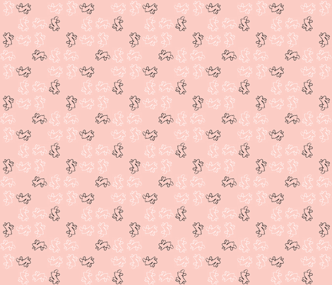 pinwheel bunnies pink fabric by cherryandcinnamon on Spoonflower - custom fabric