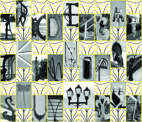 Photographic Alphabet-Please ZOOM fabric by cksstudio80 on Spoonflower - custom fabric