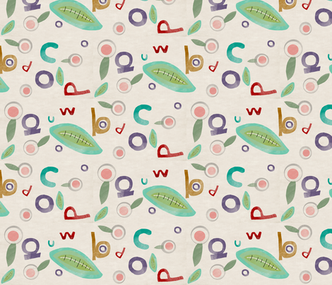 alphabet fabric fabric by rupydetequila on Spoonflower - custom fabric