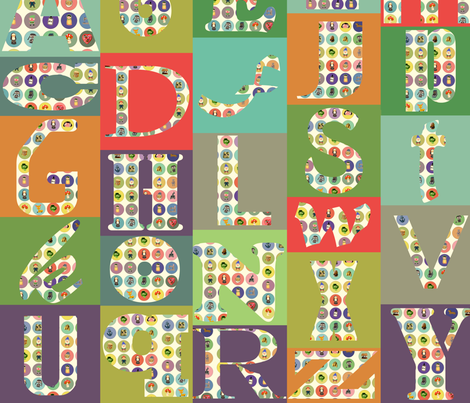 alphabet mash fabric by heidikenney on Spoonflower - custom fabric