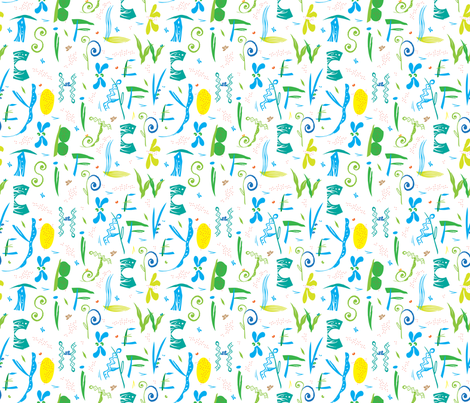 Alpha_Bits_FatQuarter_Final fabric by Pbody_Dsign on Spoonflower - custom fabric