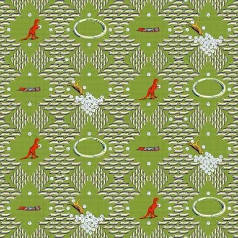 Plastic Golf Ball Tree Bowling - Grass fabric by joybucket on Spoonflower - custom fabric