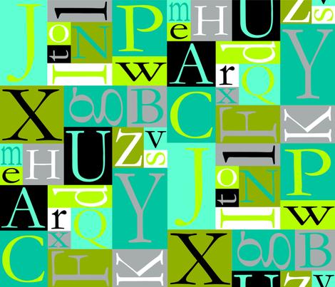 alphabet jungle fabric by amtaylor817 on Spoonflower - custom fabric