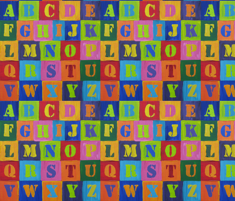My_Jasper_Johns_Alphabet fabric by karenmayo on Spoonflower - custom fabric
