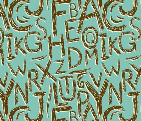 Alphabet fabric by alex_lasher on Spoonflower - custom fabric