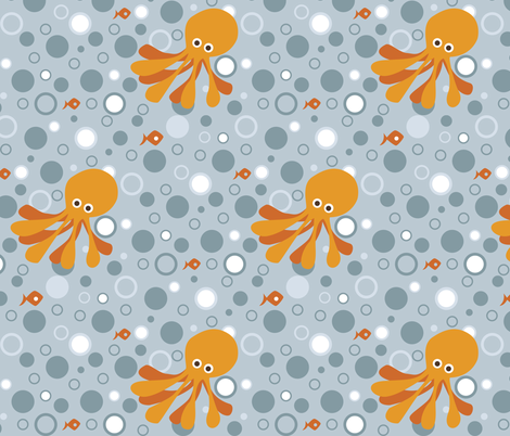 If By Ocean - Octodot (dark) fabric by ttoz on Spoonflower - custom fabric