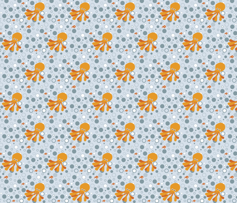 If By Ocean - Beach Block Coordinate, Octodot Light  fabric by ttoz on Spoonflower - custom fabric