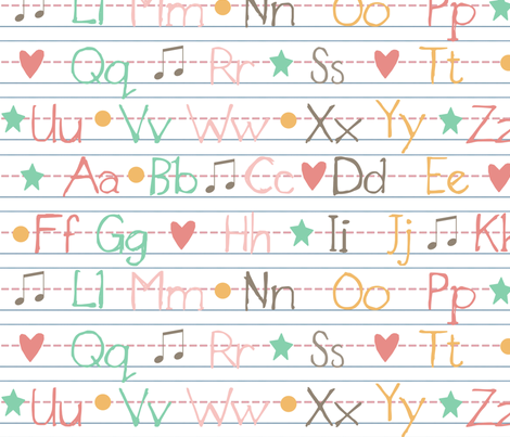 Now I Know My ABC's fabric by jpdesigns on Spoonflower - custom fabric