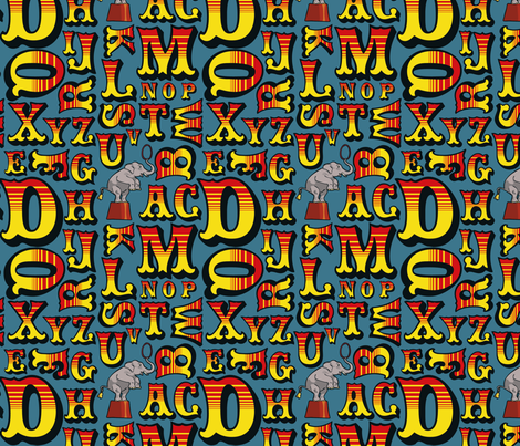 Letters from the Circus fabric by leeleeandthebee on Spoonflower - custom fabric