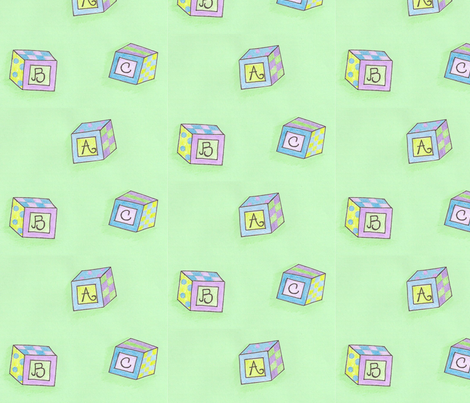 ABC Blocks fabric by springwaterdesigns on Spoonflower - custom fabric
