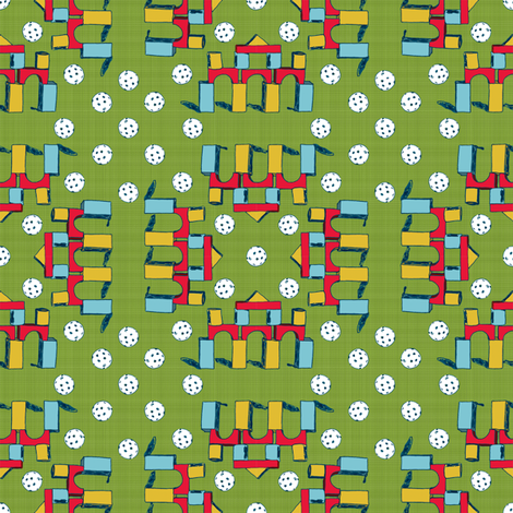 Blocks & Plastic Golfballs fabric by joybucket on Spoonflower - custom fabric