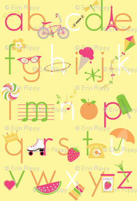 Summer Days Alphabet