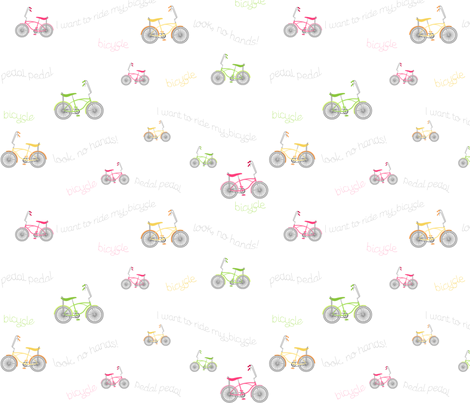 Banana Seat Bicycles fabric by inktreepress on Spoonflower - custom fabric