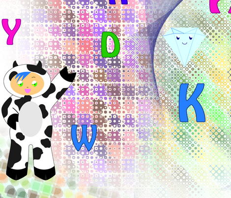 Random Character fabric by tina_tn85 on Spoonflower - custom fabric