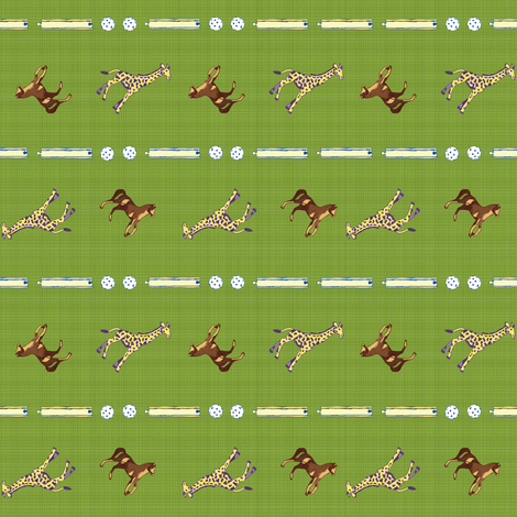 Plastic Animal Toss Stripe - grass fabric by joybucket on Spoonflower - custom fabric