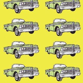 1959 Edsel Corsair convertible (green on yellow)