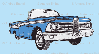 1959 Edsel Corsair convertible in blue