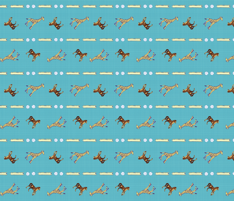 Plastic Toy Toss Stripe in blue fabric by joybucket on Spoonflower - custom fabric
