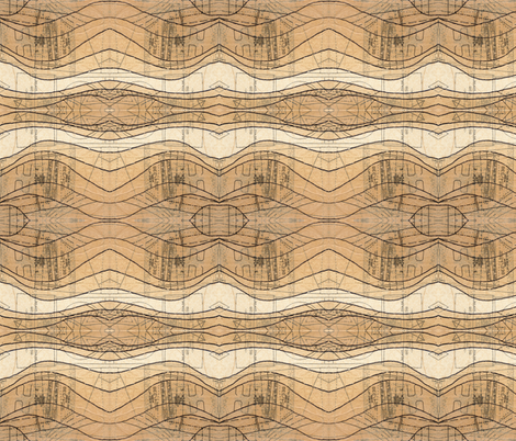sewing pattern waves fabric by *erinred* on Spoonflower - custom fabric