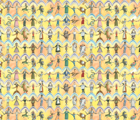humorbookendpapers fabric by paul-ny on Spoonflower - custom fabric