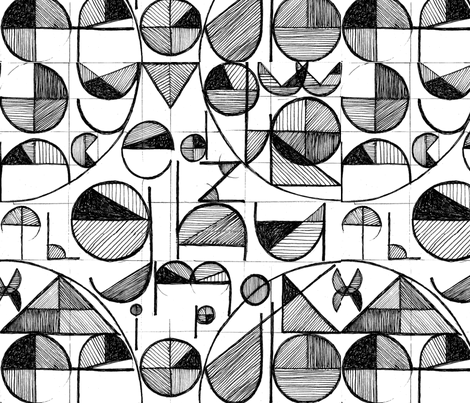 AlphabetPattern02-ed fabric by nicole_mueller on Spoonflower - custom fabric