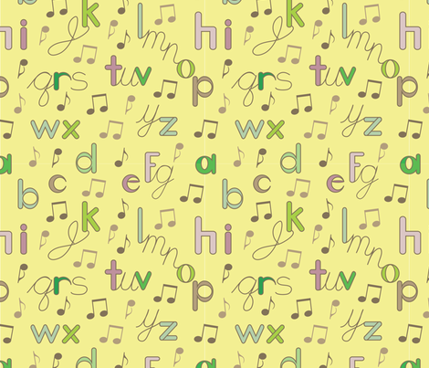The Alphabet Song fabric by can-do-girl-fabric on Spoonflower - custom fabric