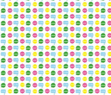 yummicute fabric by sarafornell on Spoonflower - custom fabric