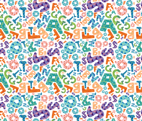 Alphabet fabric by fromgabriela on Spoonflower - custom fabric