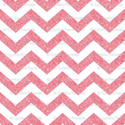 Glitter Chevron Pink