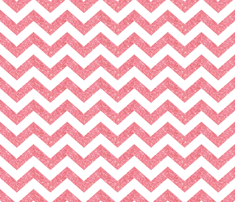 Glitter Chevron Pink fabric by cynthiafrenette on Spoonflower - custom fabric