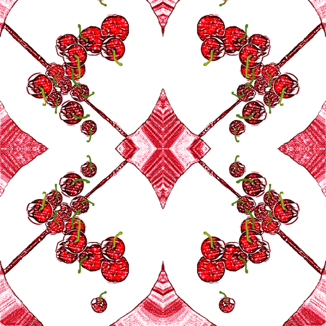Cherries, Cherries, Cherries! fabric by robin_rice on Spoonflower - custom fabric