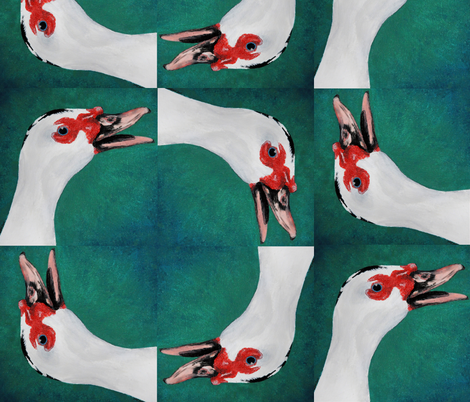 Duckcircle fabric by mangomail on Spoonflower - custom fabric