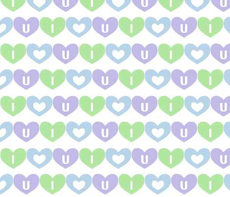 iheartu fabric by oranshpeel on Spoonflower - custom fabric