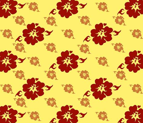 The Red Sun fabric by emidiaz on Spoonflower - custom fabric