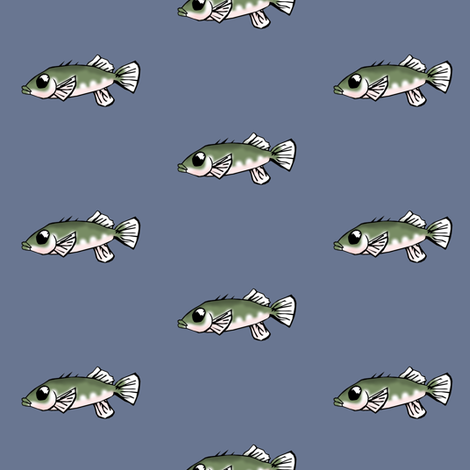 Unarmored Threespine Stickleback fabric by pond_ripple on Spoonflower - custom fabric