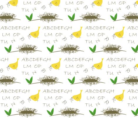 Twiggy Alphabet Nest fabric by aa on Spoonflower - custom fabric