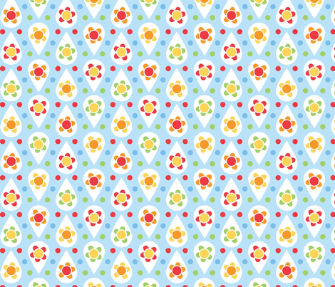 rain_daisy fabric by cjldesigns on Spoonflower - custom fabric