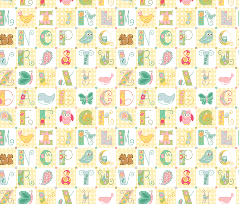 ABC_s fabric by beebumble on Spoonflower - custom fabric