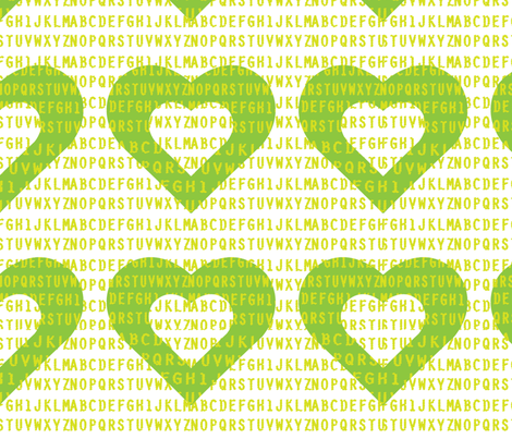 I_Heart_the_Alphabet fabric by moodymayi on Spoonflower - custom fabric