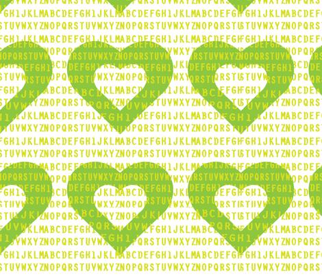 I_Heart_the_Alphabet fabric by moodymayi on Spoonflower - custom fabric