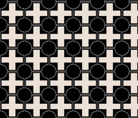 hollywood crossing black and champagne fabric by ninaribena on Spoonflower - custom fabric