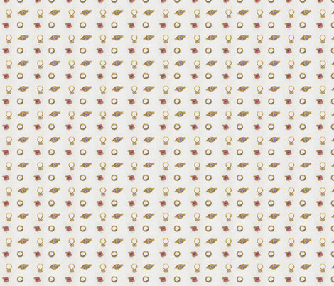 Angy's rings on white  fabric by mimi&me on Spoonflower - custom fabric