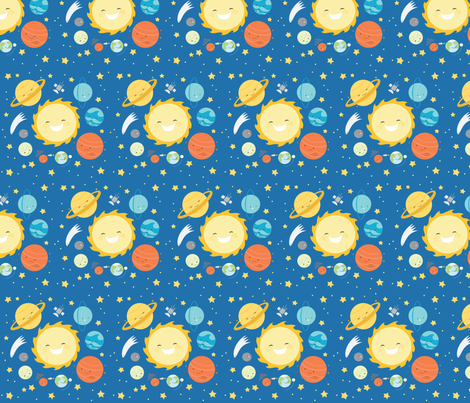 Solar system fabric pattern pics about space for Planet print fabric
