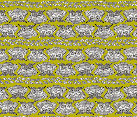owls_in_green_S fabric by nadja_petremand on Spoonflower - custom fabric
