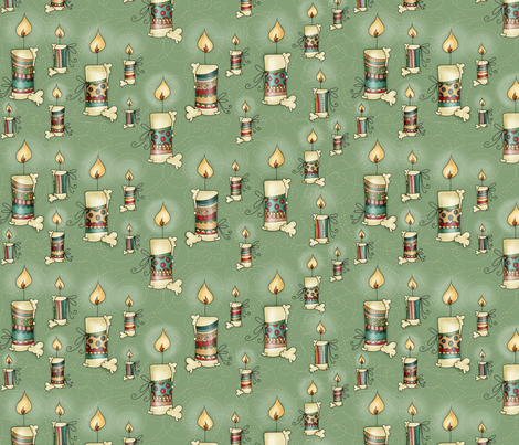 Xmas Candles fabric by catru on Spoonflower - custom fabric