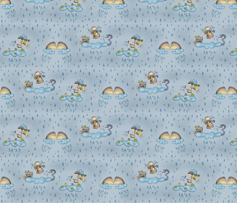 [SMALL] Gardening fabric by catru on Spoonflower - custom fabric